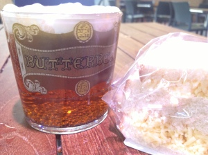 Butterbeer and cheese sandwich