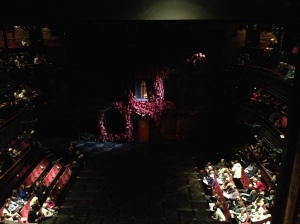 The Merry Wives of Windsor set, Act I