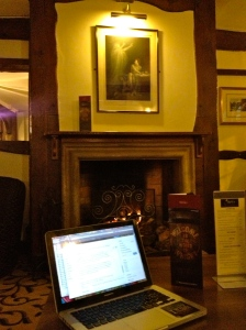 Blogging by the fire